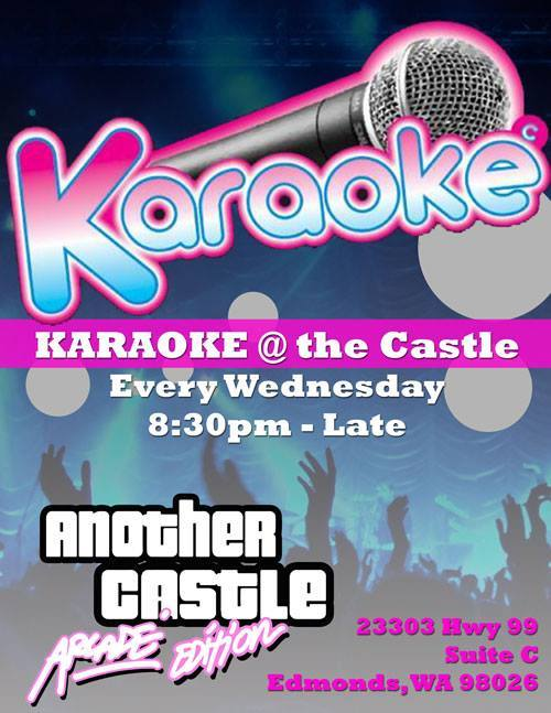 Karaoke @ Another Castle Arcade, every Wednesday