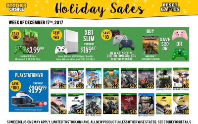 Holiday Sales for the Week of 12/17