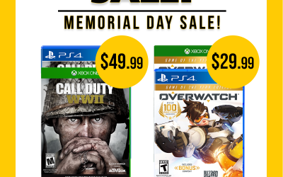 Save on Call of Duty WWII and Overwatch now through 5/31/18!