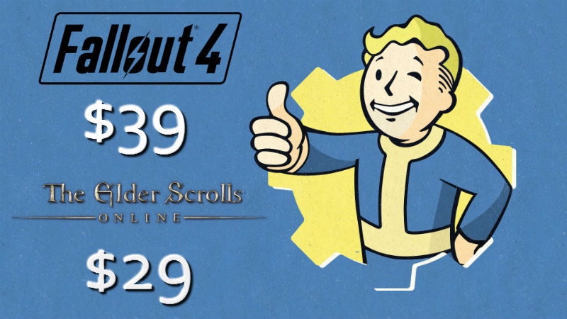 Bethesda Price Drops – Fallout 4 and Elder Scrolls Online