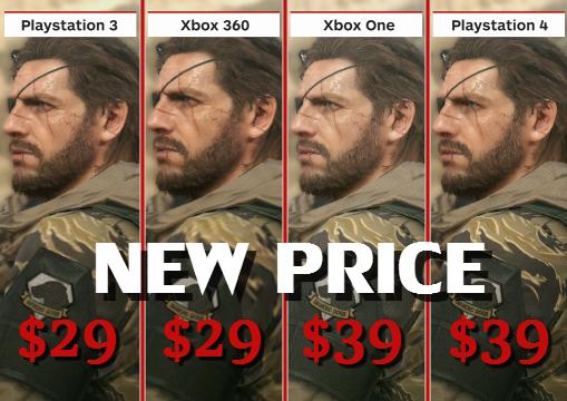 Metal Gear Solid 5 Price Drop