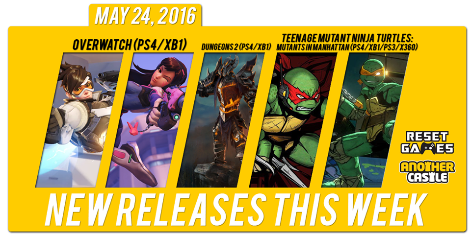 New Releases for May 24th, 2016 (Sorry for the Delay!)