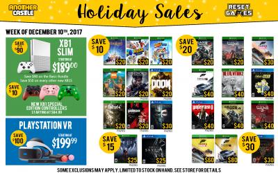 Holiday Sales through 12/16/17
