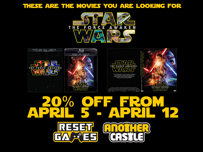 STAR WARS: THE FORCE AWAKENS on Blu Ray or DVD