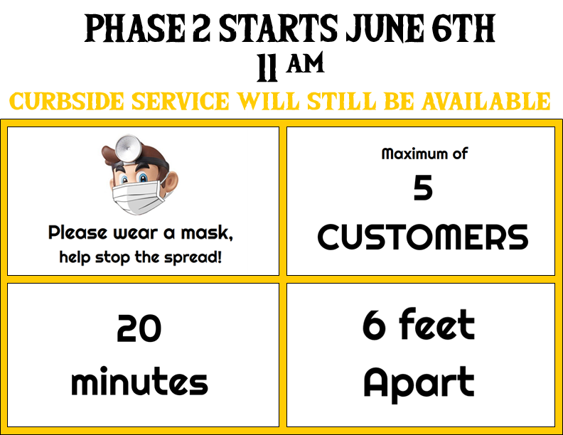 Open for Phase 2!