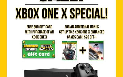 Xbox One X Special! 5/20/18-5/26/2018